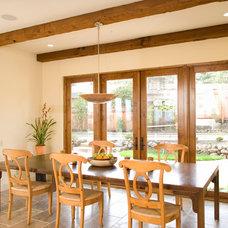 Mediterranean Dining Room by Zak Johnson Architects