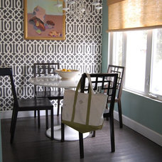 Eclectic Dining Room by M.A.D. Megan Arquette Design
