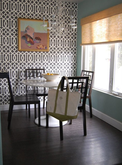 Transitional Dining Room by M A D  Megan Arquette Design. 11 Ways to Roll With Wallpaper All Over the Home
