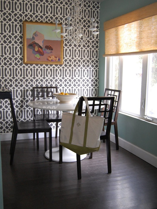 Wallpaper feature wall houzz for Wallpaper for dining room feature wall