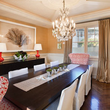 Beach Style Dining Room by Erin Hedrick Design