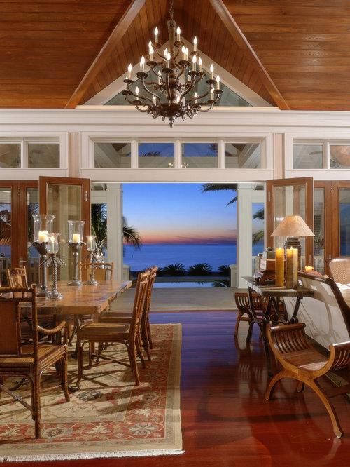 Tropical Open Plan Dining Design Ideas Renovations Photos