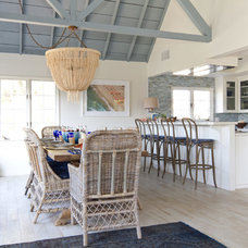 Beach Style Dining Room by Charmean Neithart Interiors, LLC.