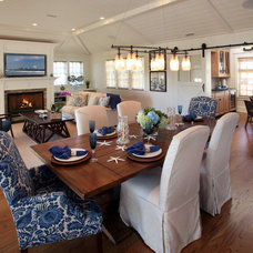 Beach Style Dining Room by Beach Dwellings