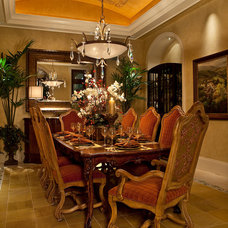 mediterranean dining room by Kurtz Homes Naples