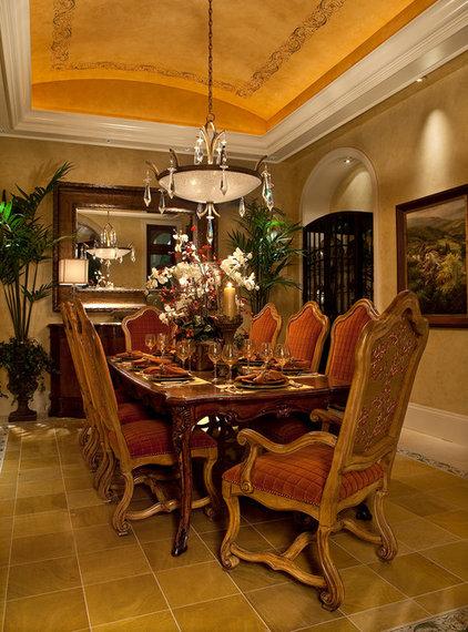 Mediterranean Dining Room by Kurtz Homes Naples