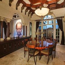 Mediterranean Dining Room by Albanese Builders