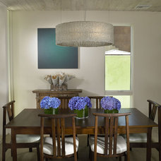 Modern Dining Room by Amy Noel Design