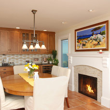 Beach Style Dining Room by Baskam Construction Services