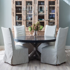 transitional dining room by Kati Curtis Design