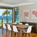 Beach House Contemporary Dining Room Brisbane By