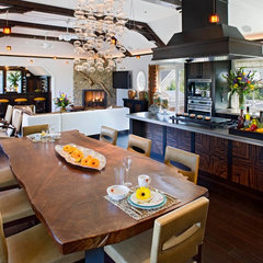 contemporary dining room by Bruce Palmer Coastal Design