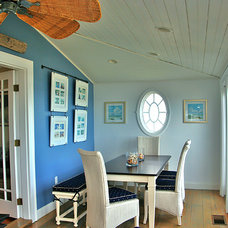 Beach Style Dining Room by Janet Shea Interiors