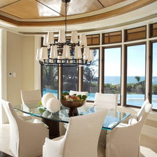 Contemporary Dining Room by Little Palm Design Group