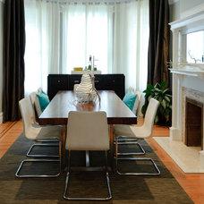 Beach Style Dining Room by Regan Baker Design