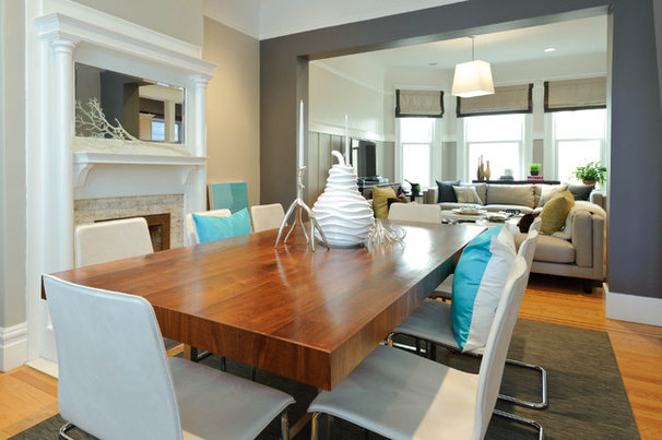 Beach Style Dining Room by Regan Baker Design