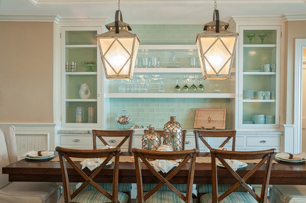 Eclectic Dining Room by QualCraft Construction Inc