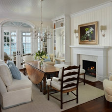 Beach Style Dining Room by Cottage Company Interiors
