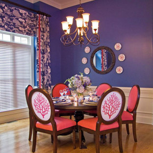 This is an example of a beach style dining room in Charlotte.