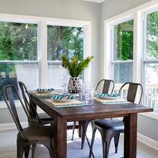 Beach Style Dining Room by Loftus Design, LLC