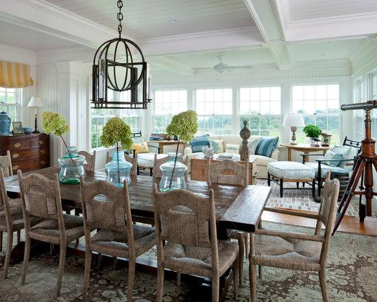 coastal dining room   houzz
