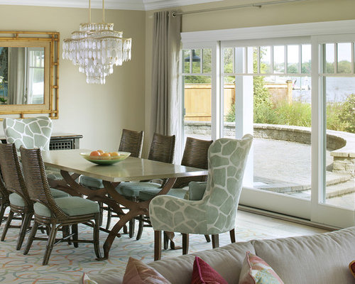 Pastel dining chairs home design ideas pictures remodel for Pastel dining room ideas