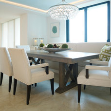 Beach Style Dining Room by LAURA MILLER, ASID, NCIDQ: INTERIOR DESIGN