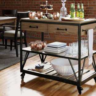 BEAM SERVING CART DINING ROOM