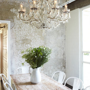 Dining room - shabby-chic style dining room idea in Orange County