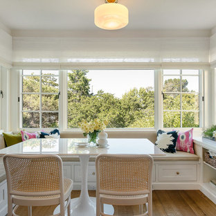 Inspiration for a timeless medium tone wood floor dining room remodel in San Francisco