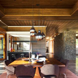 На фото: большие гостиные-столовые в восточном стиле