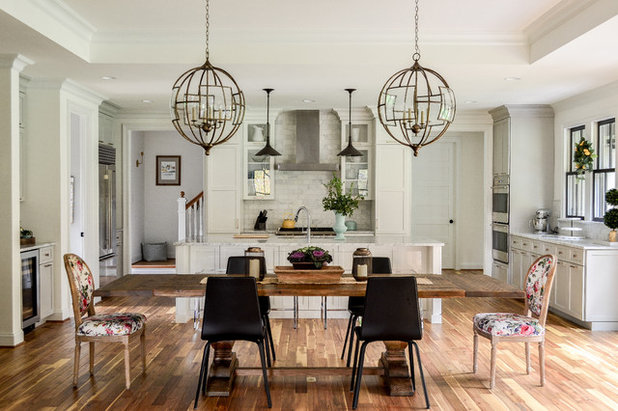 Transitional Dining Room by JTWdesign LLC