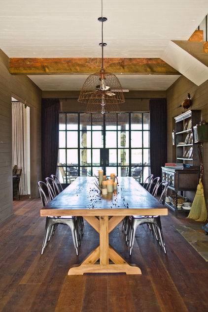 Farmhouse Dining Room by The Design Atelier, Inc.