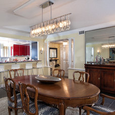 Transitional Dining Room by Sand Castle Designs