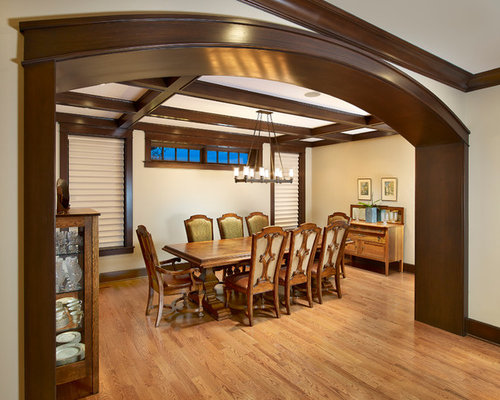 Dark wood arch houzz for Designs of arches in living room