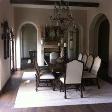 Mediterranean Dining Room by Mia Malcolm Design