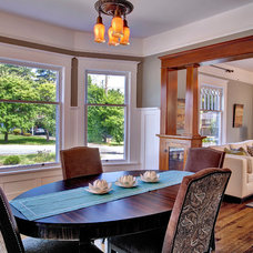 Craftsman Dining Room by Kathryn Tegreene Interior Design