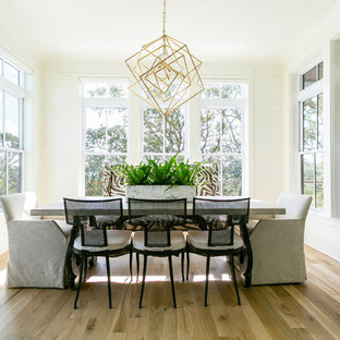 Table Decor. Clear All · Inspiration For A Beach Style Light Wood Floor And  Beige Floor Dining Room Remodel In Charleston
