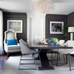 Inspiration for a contemporary dining room remodel in San Francisco with gray walls