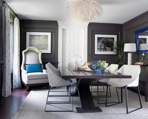 Dark Gray Dining Table   Houzz