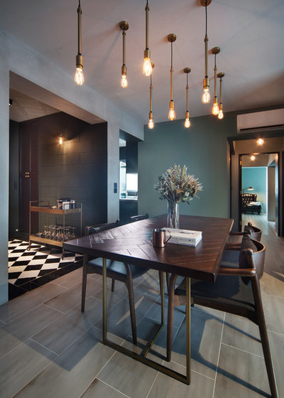 Contemporary Dining Room by The Scientist Pte Ltd
