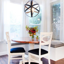 Transitional Dining Room by Sarah Stacey Interior Design