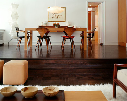 houzz furniture. example of a trendy dark wood floor and brown dining room design in new york houzz furniture