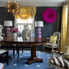 Eclectic Dining Room by Benjamin Moore