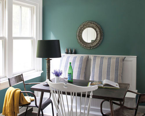 captivating dining room lighting | Benjamin Moore Caribbean Teal Home Design Ideas, Pictures ...