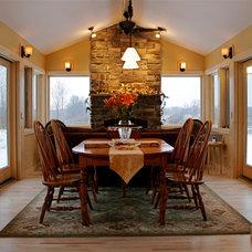 Traditional Dining Room by KJM Design Studio