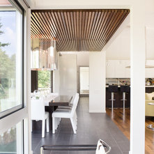 Contemporary Dining Room by Hufft