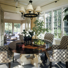 traditional dining room by Benvenuti and Stein