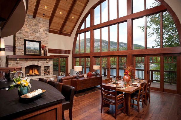 Traditional Dining Room by Living Stone Construction, Inc.