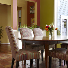 Transitional Dining Room by Designing Solutions